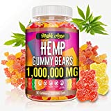 Hemp Gummies Made in USA 1,000,000mg Anxiety & Stress Relief Inflammation Sleep Hemp Oil Mood & Immunity Support Ideal Omega 3, 6, 9 Premium Source Mood & Immune Support