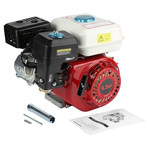 Preisvergleich Produktbild Zerone 6, 5 PS 4, 8 KW Benzinmotor,  19 mm Schaft,  Ölschutz,  luftgekühlter Einzylinder,  4-Takt-Motor,  Rücklaufstart,  Lichtmaschine