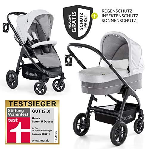 Hauck 10-teiliges Kinderwagen-Set 2in1 - Saturn R Duoset - inkl. Babywanne, Buggy und Zubehörpaket,...