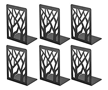 Book Ends Bookends Book Ends for Shelves Bookends for Shelves Bookend Book Ends for Heavy Books Book Shelf Holder Home Decorative Metal Bookends Black 3 Pair Bookend Supports Book Stoppers