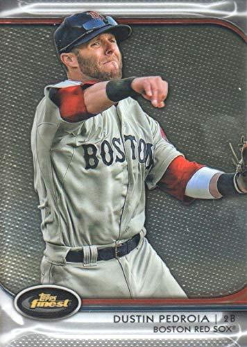 2012 Topps Finest #49 Dustin Pedroia Boston Red Sox MLB Baseball Card NM-MT