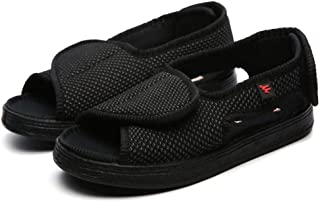 B/H Scarpe da Edema artrite Accogliente,Scarpe Casual in Velcro Regolabili, Scarpe allargate-Black_41,Pantofola per la cas...