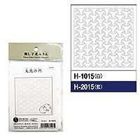 花ふきん 丸毘沙門(まるびしゃもん)H-1015(白) 【個】