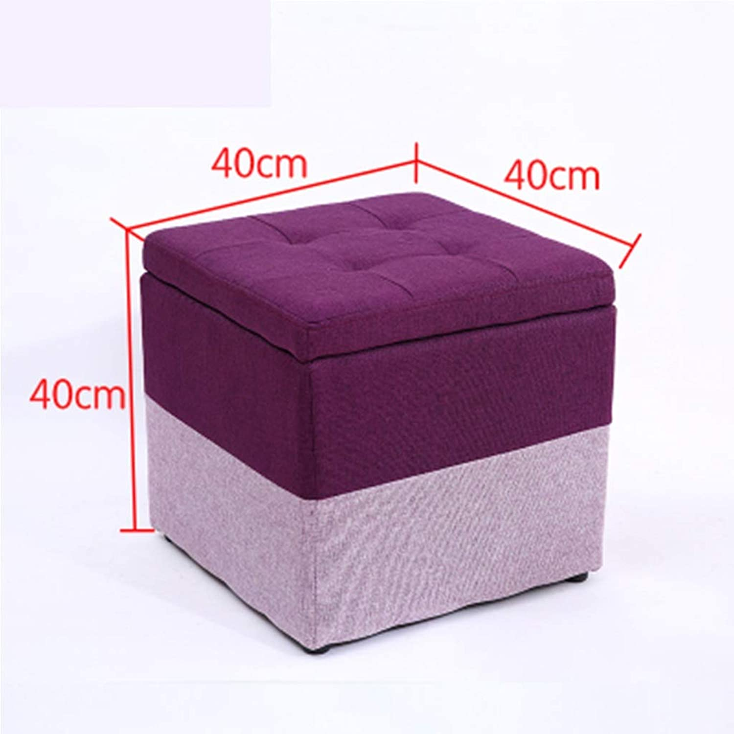 RHHWJJXB Solid Wood Stool Fabric Change shoes Bench Storage Stool Living Room Coffee Table Sofa Stool Home Creative Large Storage Stool (color   B)
