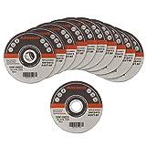 Arebos Trennscheiben für Metall INOX (125 x 1 mm, 50 Stück) / EN 12413 / MPA Z-14000/16
