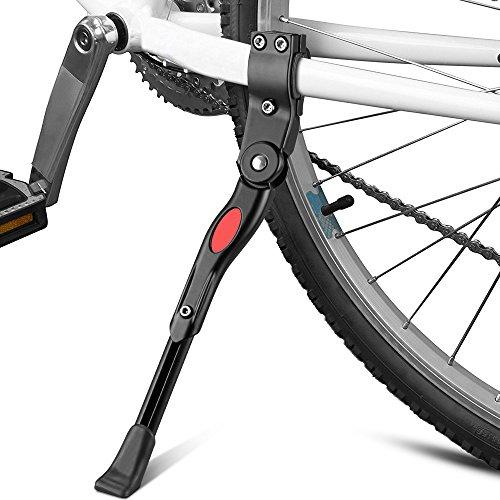 "Sporgo Fahrradständer, Seitenständer,Fahrrad Ständer,Universal Fahrradständer mit Anti-Rutsch Gummifuß Aluminiunlegierung für Mountainbike,Rennrad,Fahrräder,Klapprad,Verstellbar 22\"" 24\"" 26\"" 28\"""