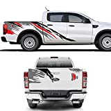 Coche Pegatinas enteras para Ford Ranger Raptor Pickup Isuzu DMA Nissan Navara Toyota Hilux Auto Vinyl Styling Accesorios de ajuste de automóviles