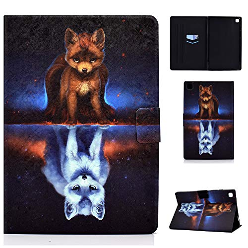 AsWant Hülle für Samsung Tab A7,Galaxy Tab A7 PU Leder Schutzhülle Brieftasche Flip Hülle Auto Schlaf/Wach Function Tablet Hülle für Samsung Galaxy Tab A 10.4 Zoll 2020 SM-T500/SM-T505 Fuchs