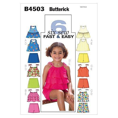 BUTTERICK Buterrick 4503 CL - Patrón de Costura para Confeccionar Ropa de niña (Varios Modelos, Talla 6-8)