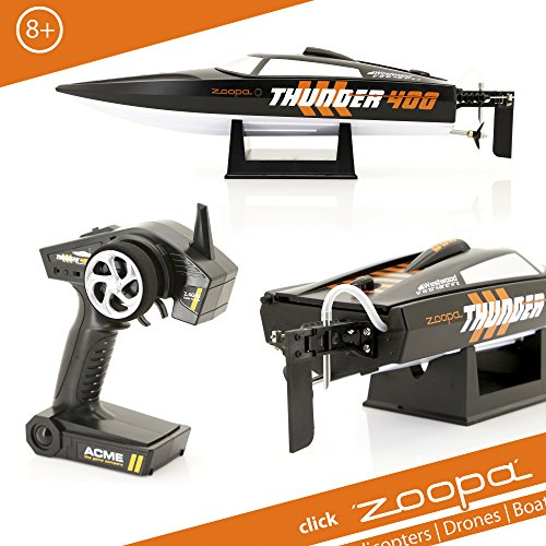 zoopa Thunder 400 Speedboot | inkl. 2,4Ghz Fernsteuerung | Ready to Race (ZA0400)