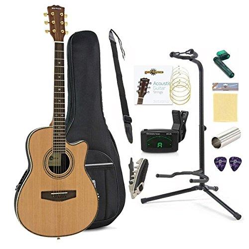 Paquete Completo de Guitarra Acústica Roundback de Gear4music