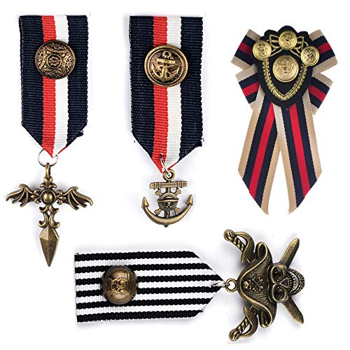 Deer Platz 4 Piezas Medalla Insignia Militar, Vestuario Medalla Hroe, Broche Pin Insignia Medalla, para Disfraz Chaqueta Abrigo Hhombres Mujeres