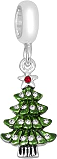 DaVinci Bead Green Cz Christmas Tree - Jewelry Bracelet Memories Beads DB28-7-DAV