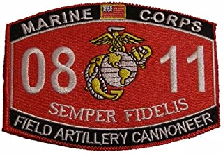 Marine Corps 0811 Field Artillery Cannoneer MOS Patch - Veteran Owned Business