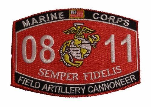 Marine Corps 0811 Field Artillery Cannoneer MOS Patch - Veteran Owned Business (Marine Corps Unit Patches)