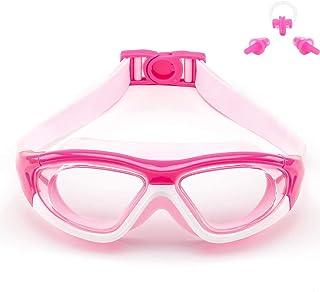 Big Frame Wide-Vision Swim Goggles for Children Girls Boys(Age 6-15 years old), Premium Polarized Kids Swimming Goggles Di...