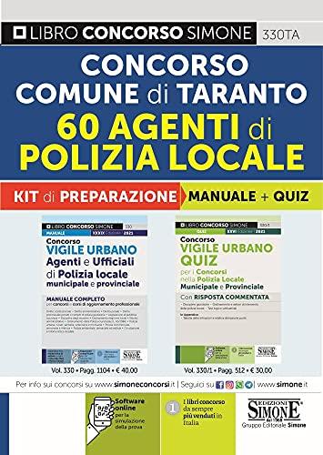 Concorso Comune di Taranto. 60 agenti di polizia locale. Kit di preparazione. Manuale + Quiz. Con software di simulazione