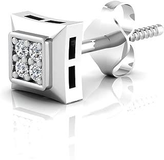 IskiUski Gold and American Diamond Stud Earrings for Men