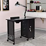 Manicure Nail Table,WaterJoy Steel Frame Nail Station Table Manicure Salon Spa...