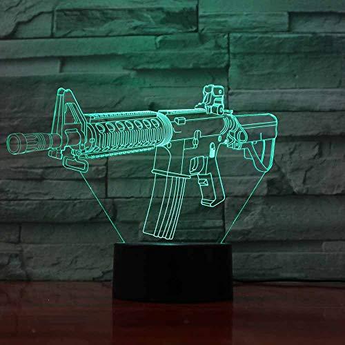 3D waffe Optische Illusions Lampe 7 Farben Touch-Schalter Illusion Nachtlicht Für Schlafzimmer Home Decoration Hochzeit Geburtstag Weihnachten Valentine Geschenk