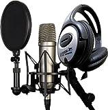 Rode NT1-A Juego Condensador Micrófono + Auriculares de Diadema Keepdrum
