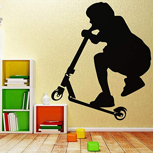 Wopiaol Afrikaanse muursticker Planet Movable Mural Scooter Home Access XL 58 cm X 68 cm