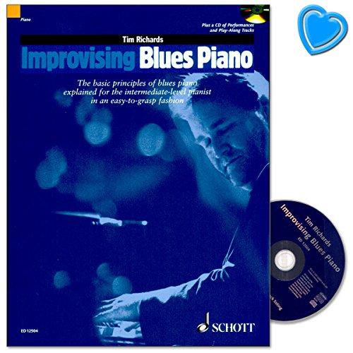 Improvising Blues Piano - alle Stile von 1920 bis heute, von den frühen Boogie-Pionieren über Swing, Jump-Jive, die New-Orleans-, Chicago - Noten mit CD und Notenklammer - ED12504