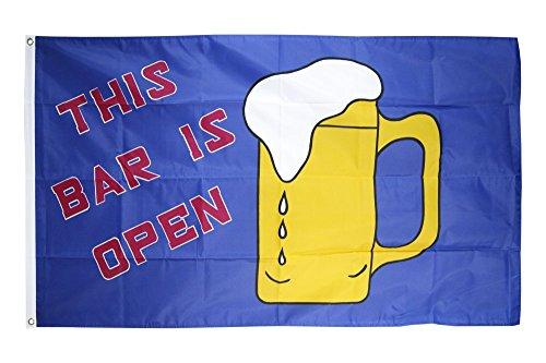 Flaggenfritze Fahne/Flagge Bier This Bar is Open + gratis Sticker