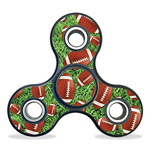 MightySkins Vinyl Decal Skin for Fidget Spinner � Football   Protective Sticker Wrap for Three-Bladed Fydget Toy   Easy to Apply Cover   Low Grip Adhesive Removes Clean   100's of Designs