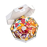 Pizza Box Funny Socks - Funny Gifts for Men Women Teens - Fun Novelty Crazy Funky Silly Cool Food Cotton Socks Birthday Christmas Gifts (4 pairs)
