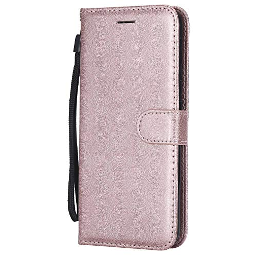 DENDICO Cover Huawei Mate 20 Lite, Premium Portafoglio PU Custodia in Pelle, Flip Libro TPU Bumper Caso per Huawei Mate 20 Lite - Rosa