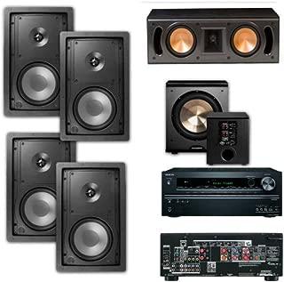 Klipsch R-2650-W In Wall 5.1 System #1-(RC-42II)BIC pl-200-Onkyo TX-NR626 7.2-Ch