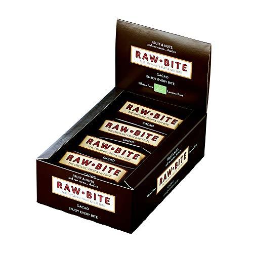 Raw Bite - Barrette crudiste con cacao, confezione da 12 pezzi (12 x 50 g)