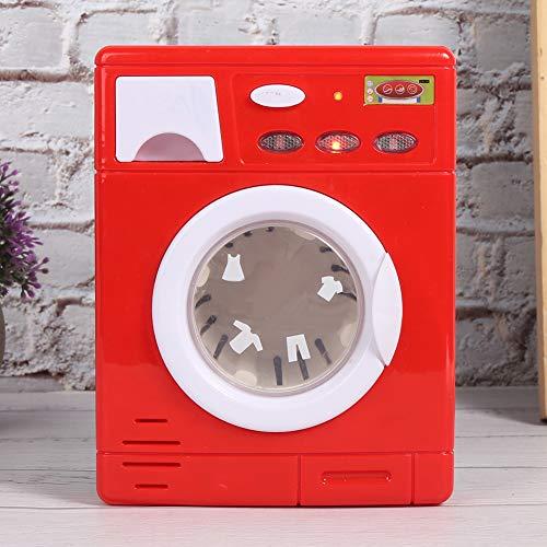 Redxiao 【𝐁𝐥𝐚𝐜𝐤 𝐅𝐫𝐢𝐝𝐚𝒚 𝐃𝐞𝐚𝐥𝐬】 Hochwertiges Kunststoffgerät Spielzeug Lustige Mini Kinder Waschmaschine, Kinder Interaktion(5502 red)