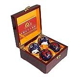 Hjyi Bolas de Baoding, Bolas de la Salud Chinos con campanadas y Las Bolas de Yin Yang (Balance) Símbolo Salud estimular los Puntos de acupresión Bolas de Masaje de Mano Alivio Ejercicio