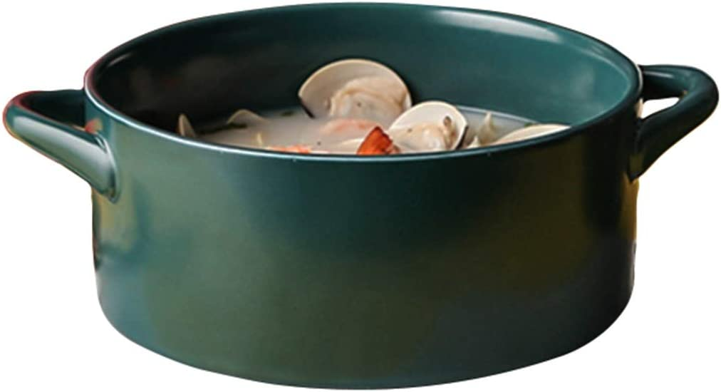 Binaural Bowl Jacksonville Mall Single Household Extra-large Soup Ceramic Outlet sale feature Com