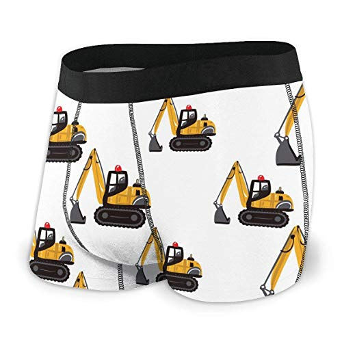 Yuanmeiju Mens Boxer Shorts Fitted Bragas Crawler Excavator Trunks Quick Dry Ropa Interior