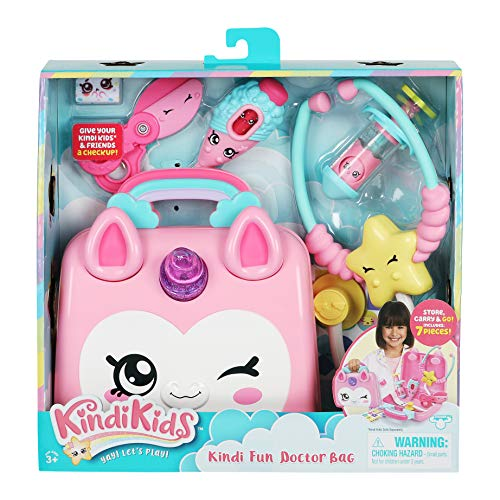 Kindi Kids Doctor Bag - Kindi Fun Unicorn Toy Doctor Bag with Shopkins Thermometer and Many More Accessories