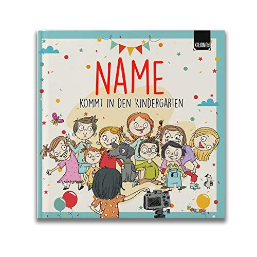 Erinnerungsalbum an das 1. Jahr im Kindergarten für Mädchen und Jungs | Personalisiert mit Wunschnamen - Jedes Buch EIN Unikat für Kiga