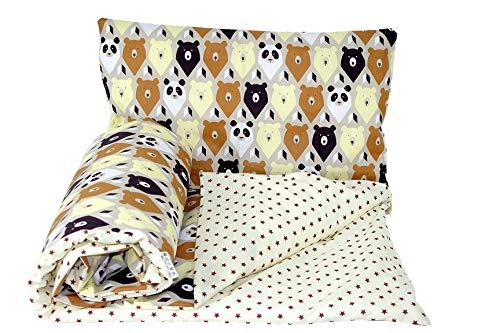 Baby's Comfort omkeerbare 2 stks baby beddengoed set dekbedovertrek/dekbedovertrek + kussensloop (150x120cm voor Junior bedden, 3 - Beige Chevron/Cream)