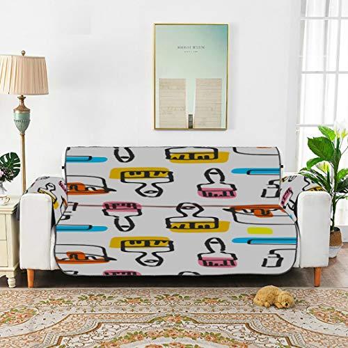 WDDHOME Niedliche Mode Cartoon Roller Pinsel Kissen Sofa ausgestattet Stuhl Schonbezug Schonbezug Ohrensessel 66