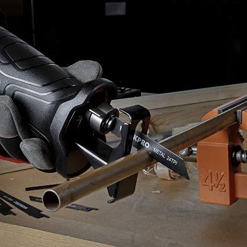 WORKPRO Scie Sabre 710W 0~2800 trs/min Vitesse Variable avec Mécanisme de Changement Rapide de...