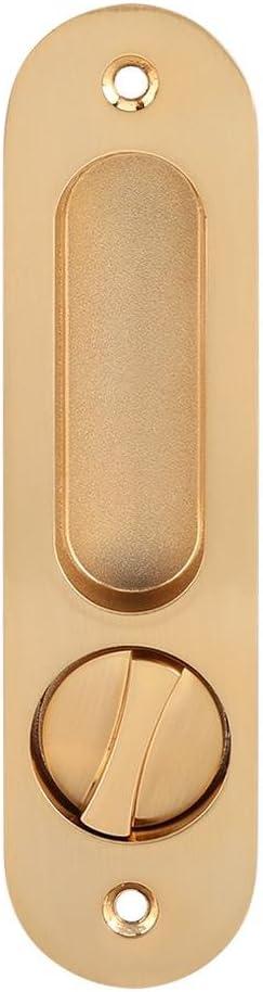 manija de Cerradura de Puerta antirrobo con Llaves para herrajes de Muebles de Madera de Granero Riuty Cerradura de Puerta corredera Oro