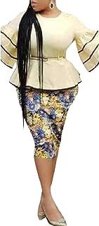 WE&energy 女性2 / 3スリーブスリムヴォーグ花の春フォーマルスカートスーツ