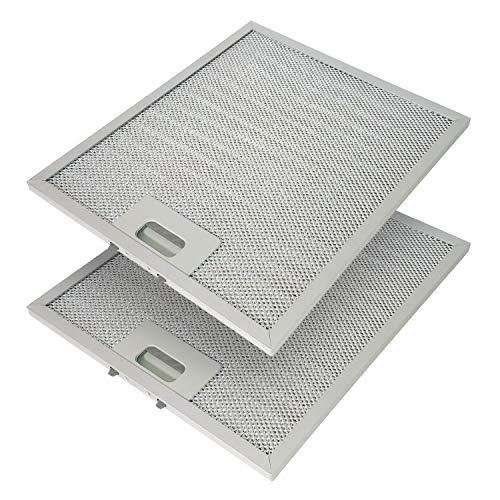 Metallfettfilter für Dunstabzugshauben, 318x258mm, Fettfilter mit Metallgitter für Küchenabzugshauben (2 Stück)
