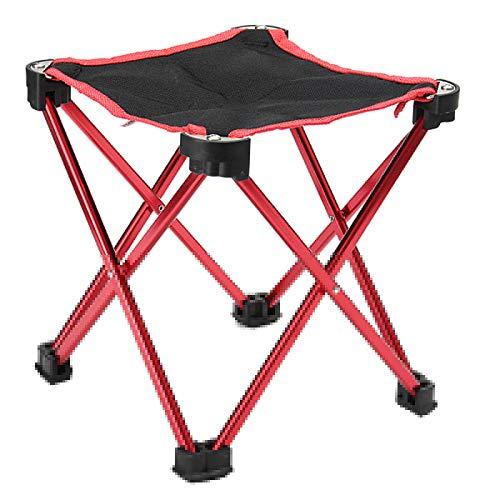 Hocker Rot klappbarer Fußhocker - Klapphocker Sitzhocker für Camping, Garten, Terrasse und Balkon