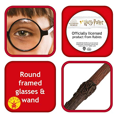 Rubies-Official-Harry-Potter-Accessory-Pack-Wand-and-Glasses-Fancy-Dress-Kit-Packaging-May-Vary
