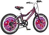 20 Zoll Kinderfahrrad Mountainbike Hardtail Explorer Dalstoria Sport lila, 6 Gang, inkl....
