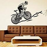 Bicicleta de carreras de ciclo, calcomanía de bicicleta, pegatina de pared deportiva para bicicleta, calcomanía Mural, decoración, arte, sala de juegos para niños, cartel de dormitorio A3 57x42cm