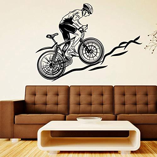 Fiets racen vinyl sticker fiets sport muur sticker muurschildering sticker decoratie kunst jongen speelkamer slaapkamer poster 57x42cm